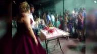 Düğün pastası kesilecekti ki... Gelini ağlatan kaza