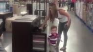 Anne terliğinden kaçan çocuk