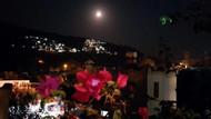 Bodrum'da ay tutulmasından ilginç görüntüler