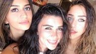 Selen Görgüzel ve kızlarından selfie