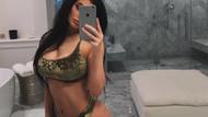 Kylie Jenner'in seksi pozları Instagramı salladı, beğen butonu yıkıldı