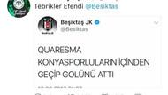 Konyaspor'dan Beşiktaş'a yanıt: Tebrikler efendi