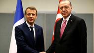 Erdoğan ile Macron bir araya geldi