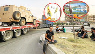 ABD'den Öcalan posterleri altında YPG'ye silah konvoyu