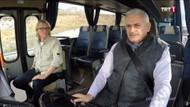 Başbakan Yıldırım 1978 model otobüsün şoför koltuğunda