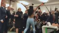 FEMEN'den Çek Cumhurbaşkanı Milos Zeman'a protesto