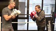 Cüneyt Özdemir, Sadettin Saran'la birlikte boks ringine çıkıyor