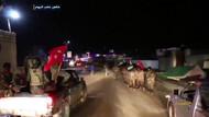 ÖSO ellerinde Türk bayraklarıyla Afrin yolunda böyle görüntülendi