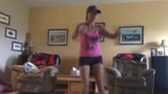 Spor yapan kadının aşil tendonu kopunca çıkan ses ürküttü