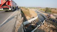 İzmir'de göçmen yüklü kamyon dere yatağına uçtu: Çoğu çocuk, 22 ölü