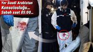 Konsoloslukta arama yapan polislerin üzerindeki kan lekesi mi?