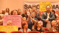 Saros Çed toplantısında gerginlik: Yıkım projesine hayır!