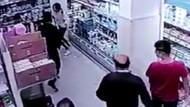 Markette genç kıza yumruklu saldırı! Durup dururken yumruk attı