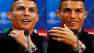 Basın toplantısına Cristiano Ronaldo'nun saati damga vurdu!