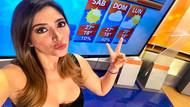 Hava durumu spikeri sosyal medyayı sallıyor! Zorla frikik veriyor