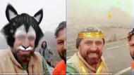 Instagramdan canlı yayın yapan vatandaşın yüz filtresiyle imtihanı