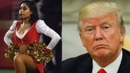 Donald Trump'ı protesto eden ponpon kız ABD'yi karıştırdı