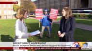 BBC'nin canlı yayında protestocu ile imtihanı