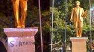 Antalya'da Atatürk heykeline sprey boyayla yazı: 3 gözaltı