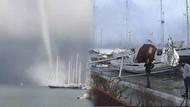 Marmaris'te hortum dehşeti: Tekne battı, araçlar zarar gördü