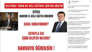 AK Parti'li başkan, İl Milli Eğitim Müdürü'nü sosyal medyada eleştirdi