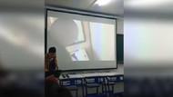 Öğretmen sunumunda yetişkin filmi rezaleti