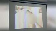 Sınıfta rezalet! Yanlışlıkla cinsel içerikli film açtı