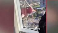 Örümcek kadından 17'nci katta yürekleri ağza getiren şov