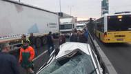 Kamyon devrildi, İstanbul Edirne Yolu trafiğe kapandı