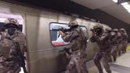 Özel Harekat polislerinden nefes kesen tatbikat! Metroda, uçakta, gemide...