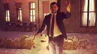 MHP'li vekil Meclis bahçesinde Ülkücü kardan adam yaptı