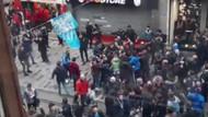 Trabzonspor taraftarları GS Store mağazasına saldırdı.. İşte o video
