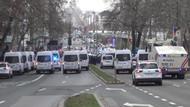 80 göstericiye karşı 500 polis, 40 polis aracı, 2TOMA 1 helikopter