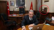Devlet Bahçeli anlatmıştı, Hulusi Akar'ın odasında görüntülendi