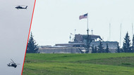 Teröristlerin çıkacağız dediği Menbiç sınırında ABD helikopterleri uçuyor