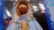 Ağlayan Meryem Ana heykeli 38. kez böyle kan akıttı!