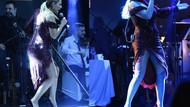 Linet'in iddialı sahne kıyafeti sınırları zorladı