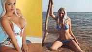 Merve Sanay derin dekolteli fotoğrafıyla hayran bıraktı