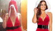 İnternetten aldığı Noel Anne kıyafeti gelince şok oldu
