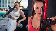 Kazak Lara Croft atışları ile erkekleri kıskandırıyor