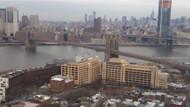 New York Manhattan Brooklyn Köprüsünden canlı yayın