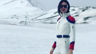 İzzet Özilhan ve Yasemin Özilhan'ın kar tatilinde dikkat çeken stil