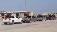 Afrin'e giren Esad'a bağlı güçlerin görüntüsü