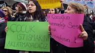 Okul önünde taciz protestosu