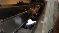 Maslak Metrosunda yürüyen merdiven çöktü! İBB'den açıklama geldi...