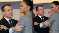 Sosyal medya Macron ve Rihanna'nın samimi hallerini konuşuyor