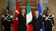 Erdoğan Roma'da İtalya Başbakanıyla görüştü