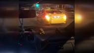 Harbiye'de taksici Uber sürücüsüne saldırdı
