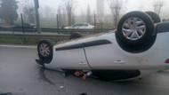 Kadıköy'de inanılmaz kaza! Yara almadan kurtuldu