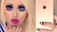 Barbie bebeğe benzemek için gözlerine bile estetik yaptırdı